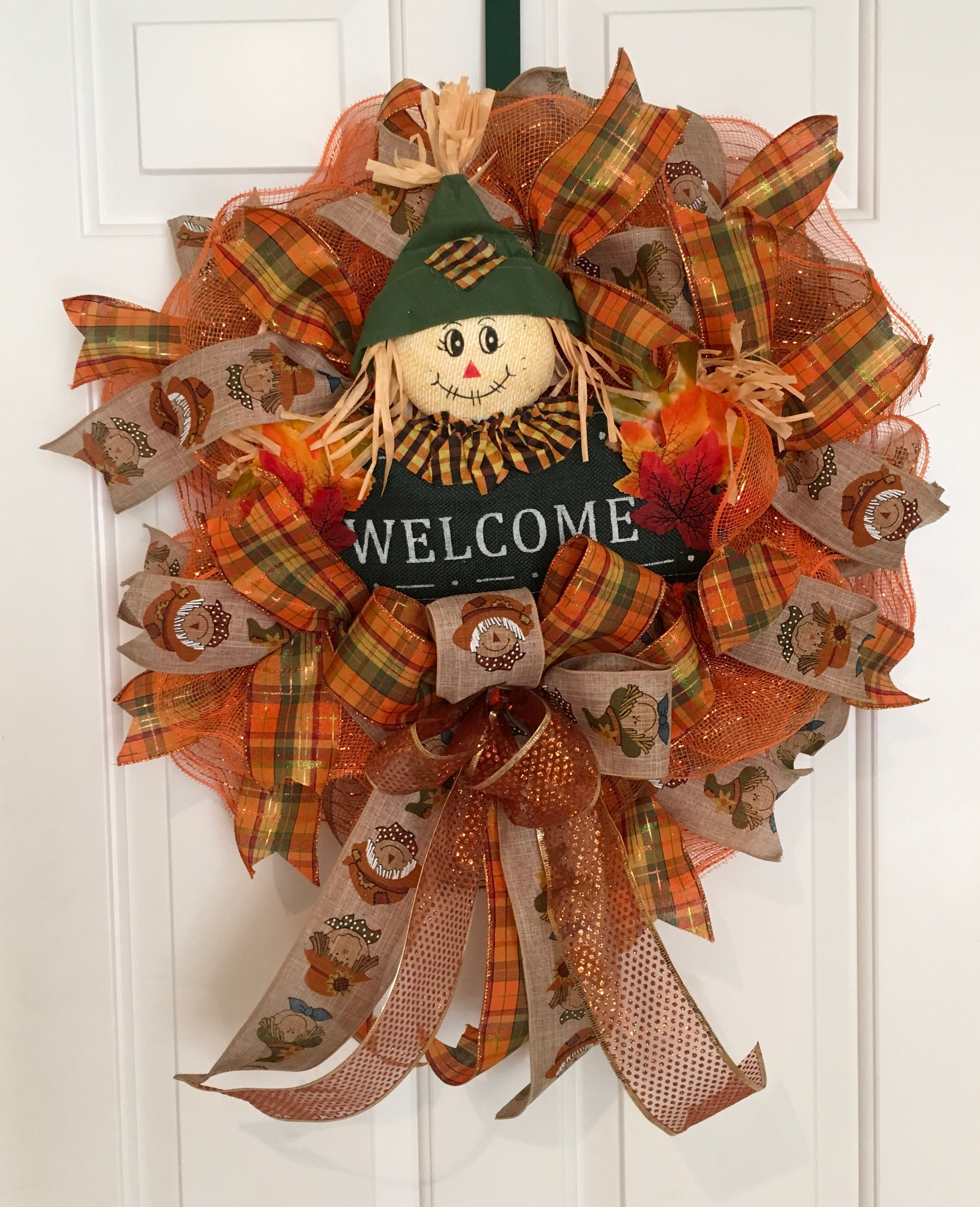 Scarecrow - Deco Mesh Wreath